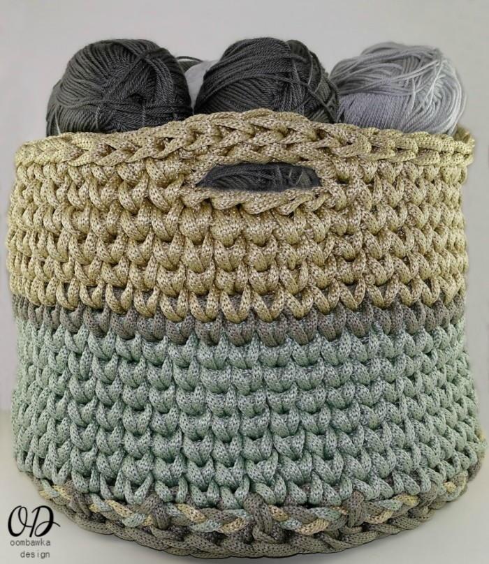 Free Crochet Pattern For Large Basket : Crocheting Squared: Crochet Basket Pattern ...
