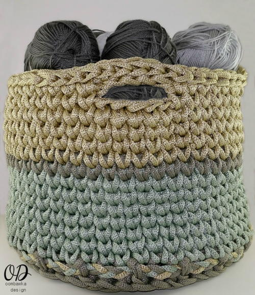 Crocheting Squared Crochet Basket Pattern