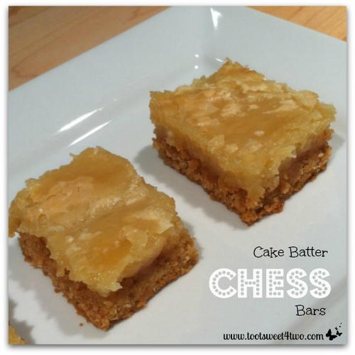 Cake Batter Chess Bars