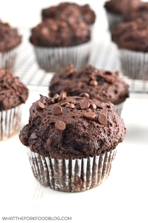 Bakery-Style Double Chocolate Chip Muffins