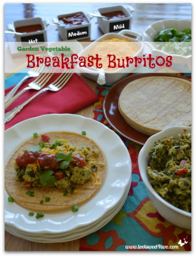 Garden Vegetable Breakfast Burritos