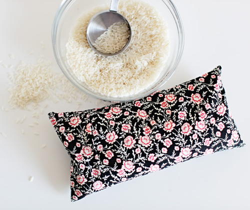 DIY Microwavable Rice Heating Pad