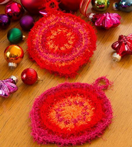 Retro Ornament Crochet Scrubbies