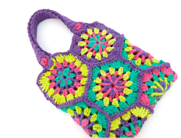 Colorful Hexagon Crochet Bag Pattern Allfreecrochet Com