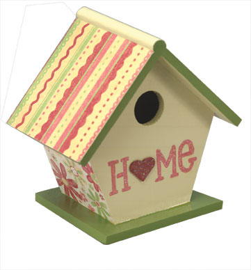 Floral Birdhouse Crafts
