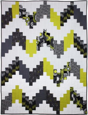 Digital Daisy Chevron Quilt Tutorial