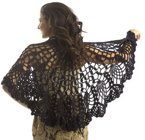 Pineapple Lace Shawl Crochet Pattern