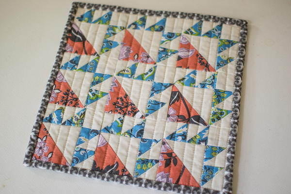 Colorful Bear Paw Quilt Block