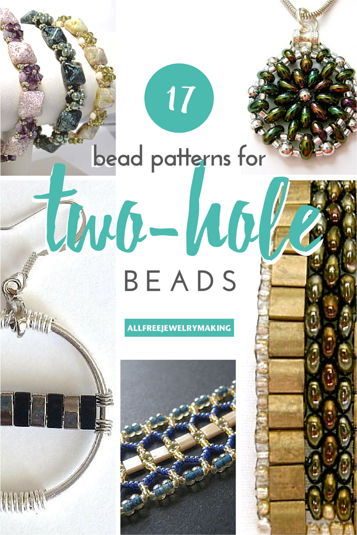 17 Bead Patterns For Two Hole Beads Allfreejewelrymaking Com