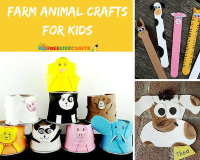 17 Farm Animal Crafts for Kids