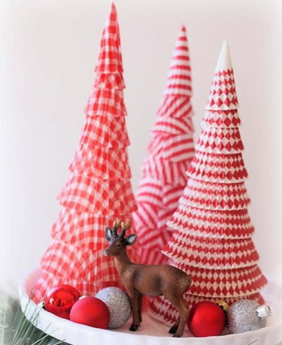 Cupcake Liner Cone Tree