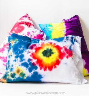 Pillowcase Tie Dye Project