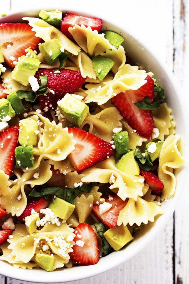 Strawberry Avocado Pasta Salad Recipelion Com