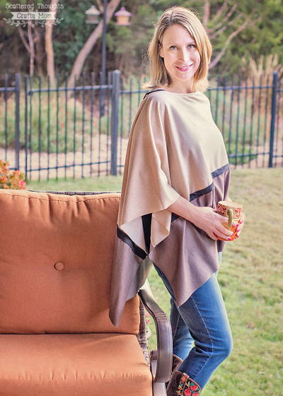 Asymmetrical Autumn Poncho