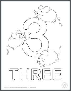 Learning Numbers Coloring Pages for Kids ...