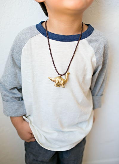 Dinosaur Necklace for Kids