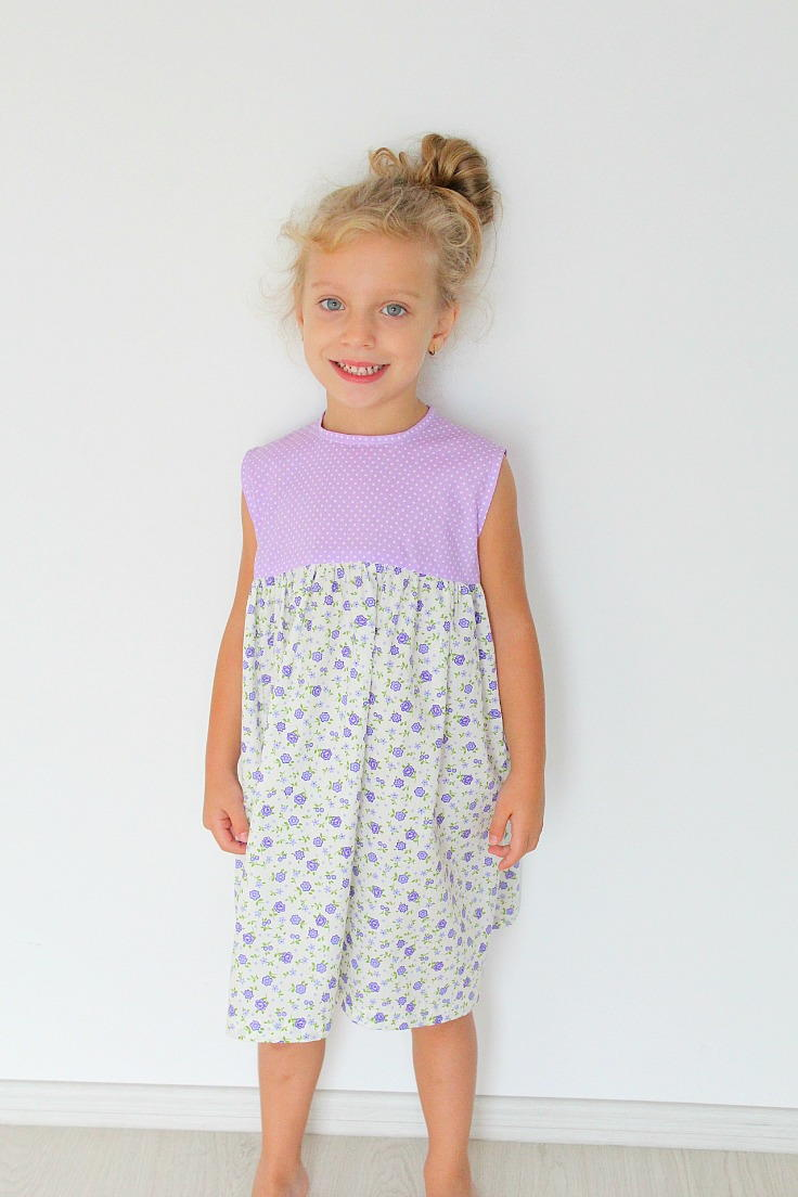 Easy Girls Gathered Dress Pattern Allfreesewing Com