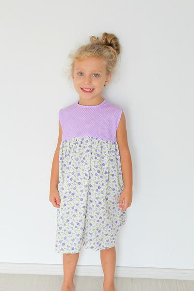Girls gathered dress free sewing pattern