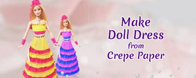 Easy Kids Craft : How To Make a Crepe Paper Doll Dress