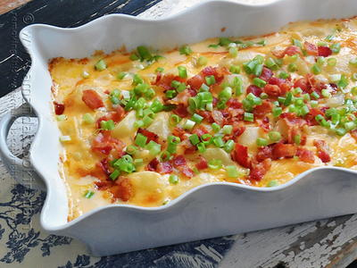 Bacon-Topped Funeral Potatoes