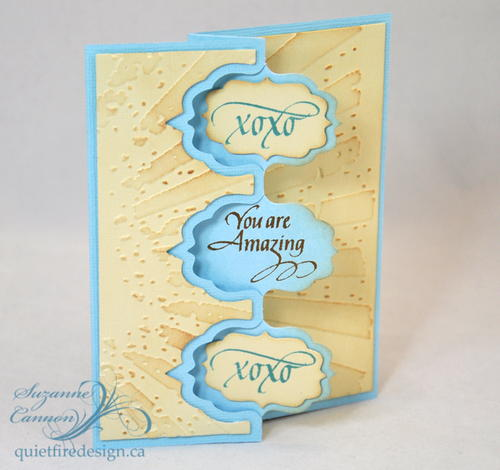 You Are Amazing Fancy Fold Card