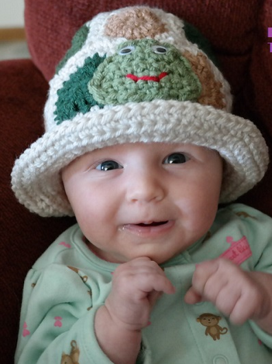Easy Turtle Crochet Baby Hat