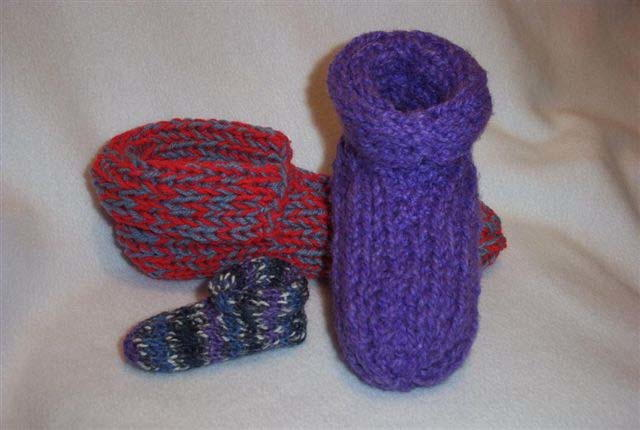 Made To Fit Double Knit Slippers FaveCraftscom
