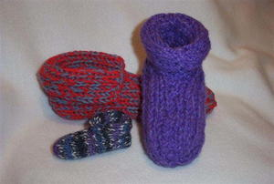 Made to Fit Double Knit Slippers