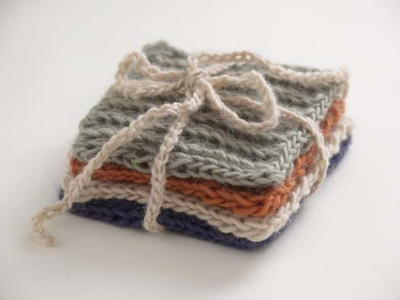 Set of Four Knitted Coasters
