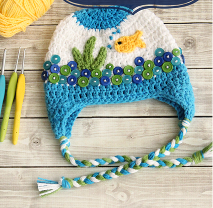 Fishbowl Crochet Baby Hat Pattern