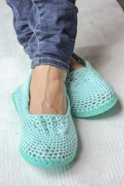 Flip Flop Crochet Slippers