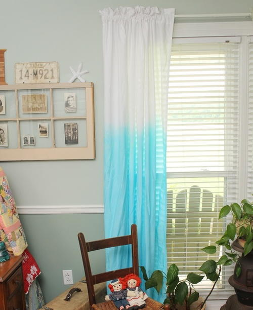 Dip Dying Curtains