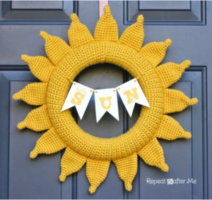 Sunshine Crochet Wreath