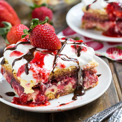 Strawberry Sunset Dessert Lasagna