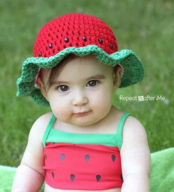 Watermelon Easy Crochet Hat