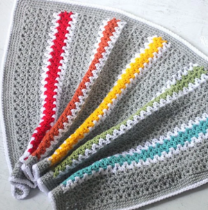V-Stitch Rainbow Crochet Blanket Pattern