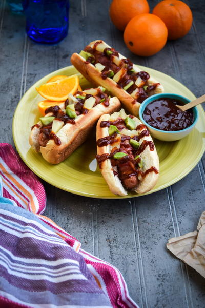 Bacon Wrapped Aloha Dogs