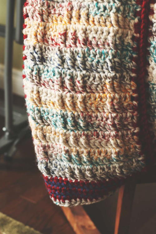 Faux Cable Crochet Blanket Pattern