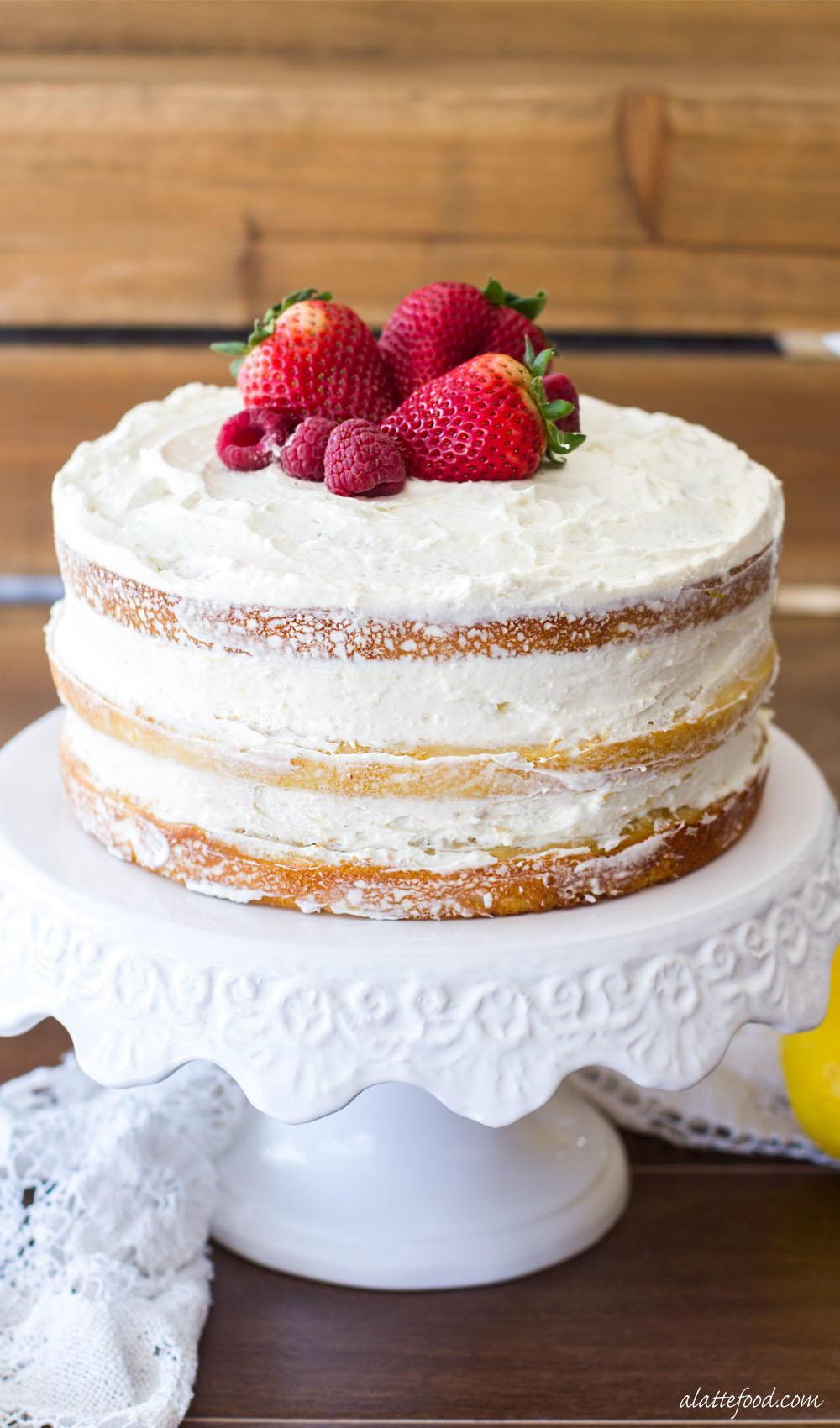 Berry Vanilla Naked Cake With Lemon Whipped Cream  Favesouthernrecipescom-4315