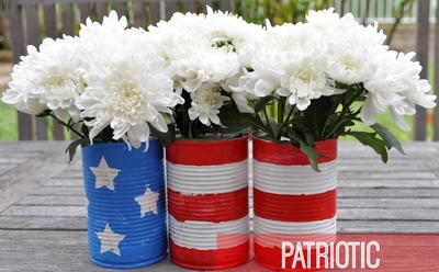 Fourth of July Flower Pots