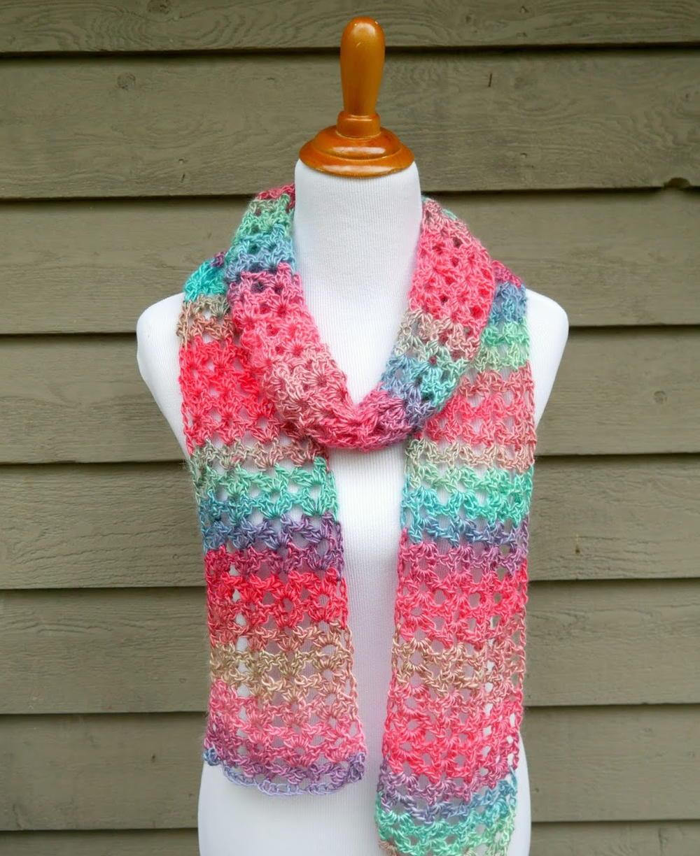 Island Lace Crochet Scarf Allfreecrochet
