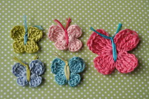 3 Minute Crochet Butterfly Pattern