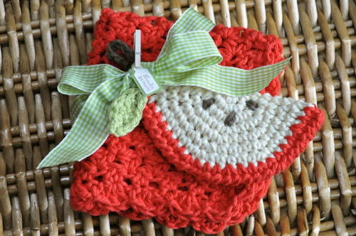 Back-To-School Crochet Dishcloth and Scrubbie