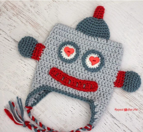 Lovebot Easy Crochet Hat