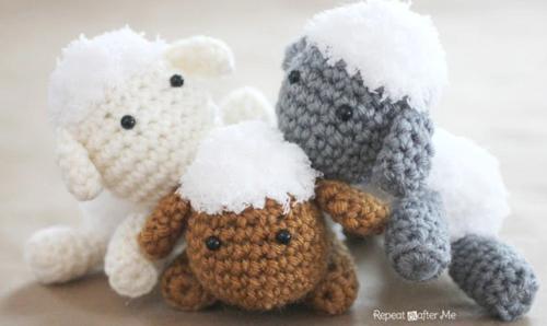 0eacdb002002 Lamb Baby Mobile Free Crochet Pattern