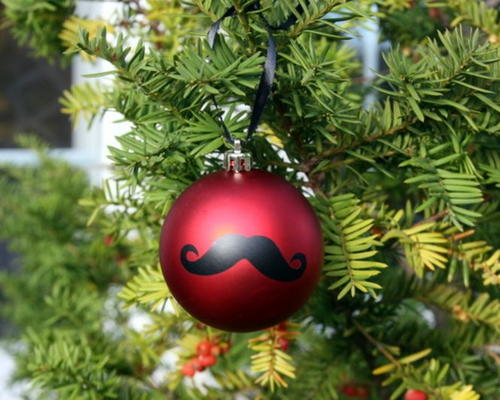 Movember Mustache Ornament