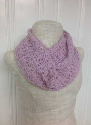 Lacy Shell Crochet Infinity Scarf