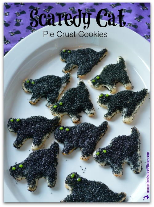Scaredy Cat Pie Crust Cookies