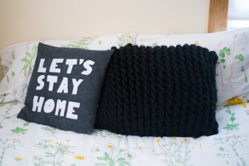 Giant Knitted Pillow