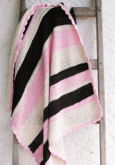 Toasted Pink Marshmallow Easy Crochet Blanket